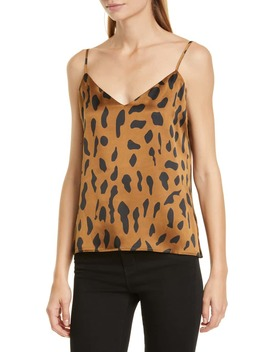 Jane Cheetah Print Silk Camisole by L'agence