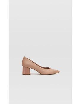 Sapatos De Tacão Médio Em Rosa by Stradivarius