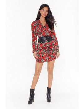 Say It With Roses Floral Mini Dress by Nasty Gal