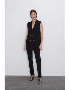 Buttoned Knit Waistcoat New Inwoman by Zara
