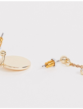 Asos Design Pack Of 6 Single Hoop Earrings With Romantic Charms In Gold Tone by Asos Design