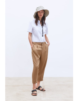 Trousers With Turn Up Hemsnew In Woman by Zara
