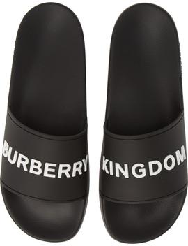 Furley Slide Sandal by Burberry