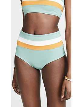 Portia Stripe Reversible Bikini Bottoms by L*Space