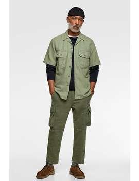 Camicia Con Tasche Vedi Tutto Camicie Uomo by Zara