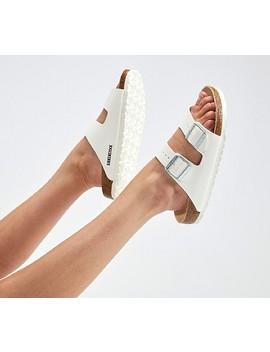 Womens Arizona Sandal | White/Cork/White by Birkenstock