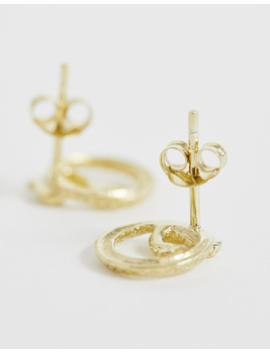 Kingsley Ryan Sterling Silver Gold Plated Snake Wrap Stud Earrings by Kingsley Ryan