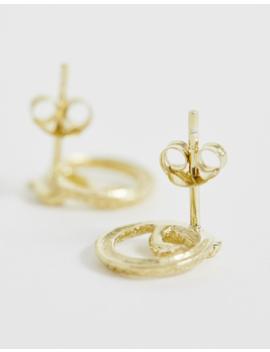 Kingsley Ryan Sterling Silver Gold Plated Snake Wrap Stud Earrings by Kingsley Ryan