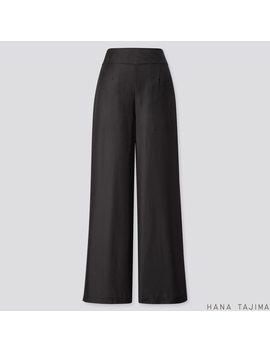 Women Silk Blend Wide Leg Pants (Hana Tajima) by Uniqlo