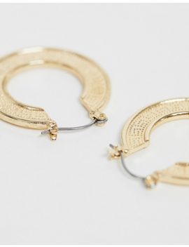 Liars &Amp; Lovers Exclusive Gold Embossed Hoop Earrings by Liars & Lovers