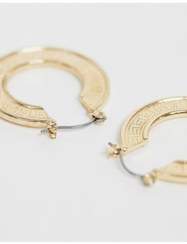 Liars &Amp; Lovers Exclusive Gold Embossed Hoop Earrings by Liars & Lovers