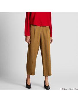 Women Tuck Tapered Ankle Pants (Hana Tajima) by Uniqlo