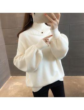 Ageha   Turtleneck Puff Sleeve Sweater by Ageha
