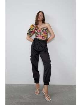Printed Asymmetric Top View All Shirts by Zara