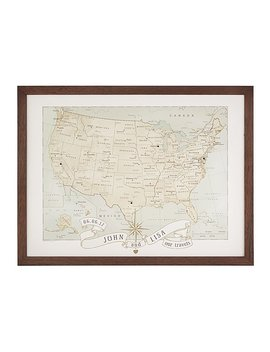 Personalized Anniversary Pushpin Usa Map by Uncommon Goods