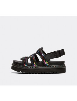 Womens Yelena Sandal | Rainbow Sequin / Black by Dr. Martens