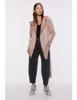 Faux Suede Jacket  Coatswoman by Zara