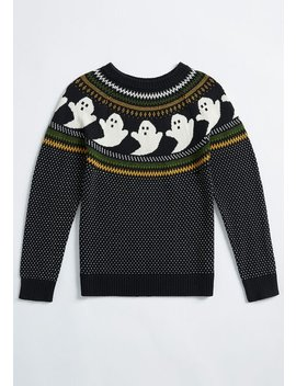 However It Ghosts Fair Isle Pullover by Modcloth