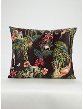 Jungle Monkeys Cushion by Asda