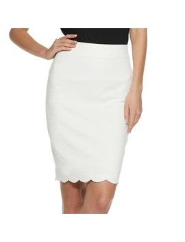 Women's Elle™ Scalloped Pull On Pencil Skirt by Elle