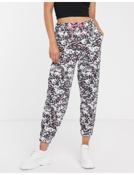 Asos Design Oversized Jogger In Iconic Print by Asos Design