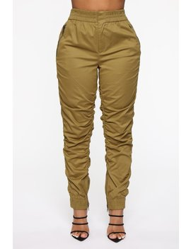 Rosie Ruched Joggers   Olive by Fashion Nova