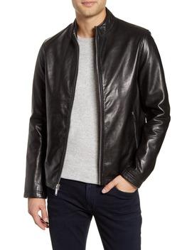 Karl Lagerfeld Leather Racer Jacket by Karl Lagerfeld Paris