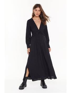 V Right Back Plunging Midi Dress by Nasty Gal