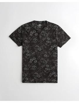 Floral Crewneck T Shirt by Hollister