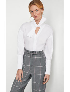 Oversized Bow Cotton Shirt by Bcbgmaxazria