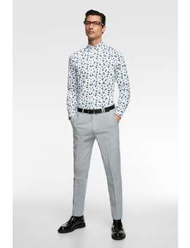 Floral Print Poplin Shirt  View All Shirts Sale Man by Zara