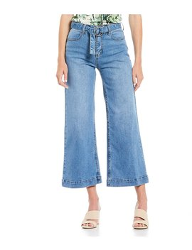 Phoebe Wide Leg Cropped Jean by Gianni Bini