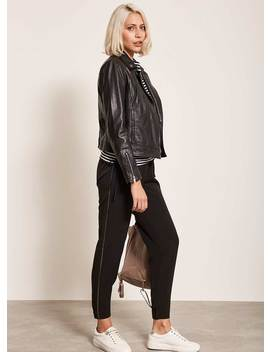 Black Metallic Stripe Trouser by Mint Velvet