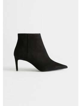 Pointed Stiletto Suede Ankle Boots by & Other Stories