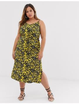 Ax Paris Yellow Floral Cami Dress by Asos