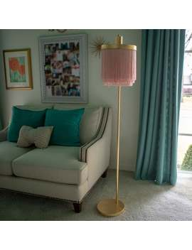 Framboise Fringe Shade Floor Lamp by Generic