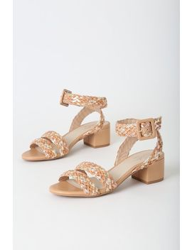 Perfect Fit Nude Multi Braided High Heel Sandals by Seychelles