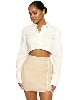 Button Up Baby Mini Skirt by Naked Wardrobe