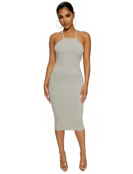 The Snatched Halter Dress by Naked Wardrobe
