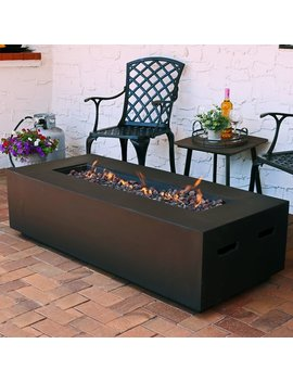 Huff Concrete Propane Gas Fire Pit Table by Brayden Studio