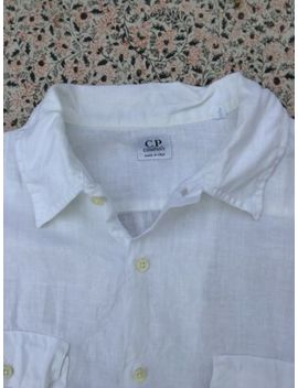 Cp Company   White   Linen   Short Sleeve   Shirt   Size 4   Xl by Ebay Seller