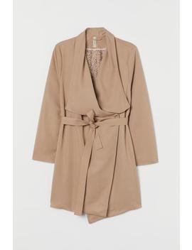 H&M+ Coat With Draped Lapels by H&M