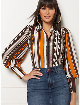 Reva Stripe Blouse   Eva Mendes Collection by New York & Company