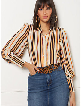 Reva Print Blouse   Eva Mendes Collection by New York & Company