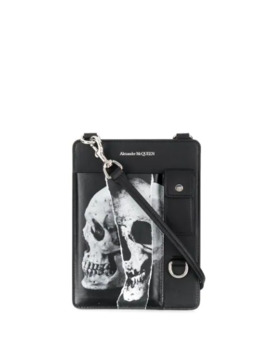 Skull Print Shoulder Bag by Alexander Mc Queen