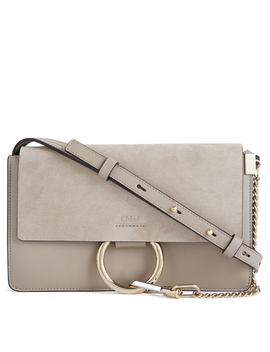 Small Faye Leather And Suede Crossbody Bag by Holt Renfrew