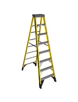 8 Ft. Yellow Fiberglass Step Ladder With 375 Lb. Load Capacity Type Iaa Duty Rating by Werner