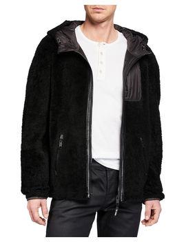 Men's Colorblock Fleece Zip Front Jacket by Yves Solomon