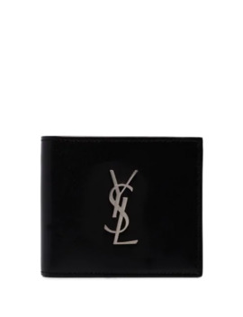 Logo Plaque Bi Fold Wallet by Saint Laurent