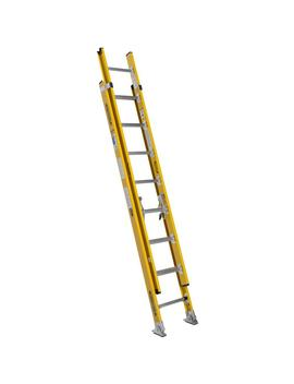 16 Ft. Fiberglass Round Rung Extension Ladder With 375 Lb. Load Capacity Type Iaa Duty Rating by Werner